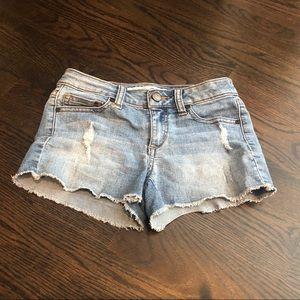 Joes jean shorts girls size 8 cut off